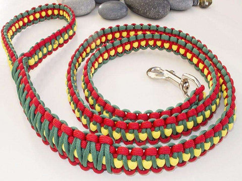 Rasta | Red, Green & Yellow Paracord Dog Lead