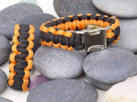 'Ospreys' Black & Orange Paracord Bracelet