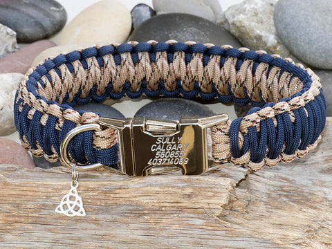Blue and Camo Dog Collar