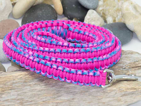 Handmade Pink-Sky Blue and Dark Pink Dog Lead