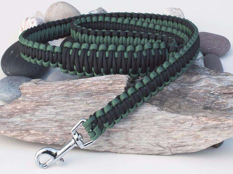 Green & Black Paracord Dog Lead