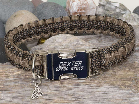 Khaki Snake & Coyote Brown - Cobra Dog Collar