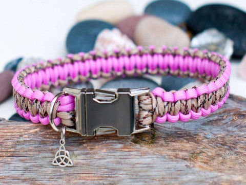 Rose Pink & Desert Camo - Cobra Dog Collar