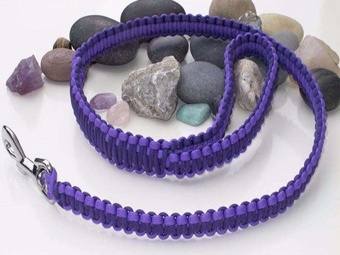Two Tone Purple Paracord Dog Lead