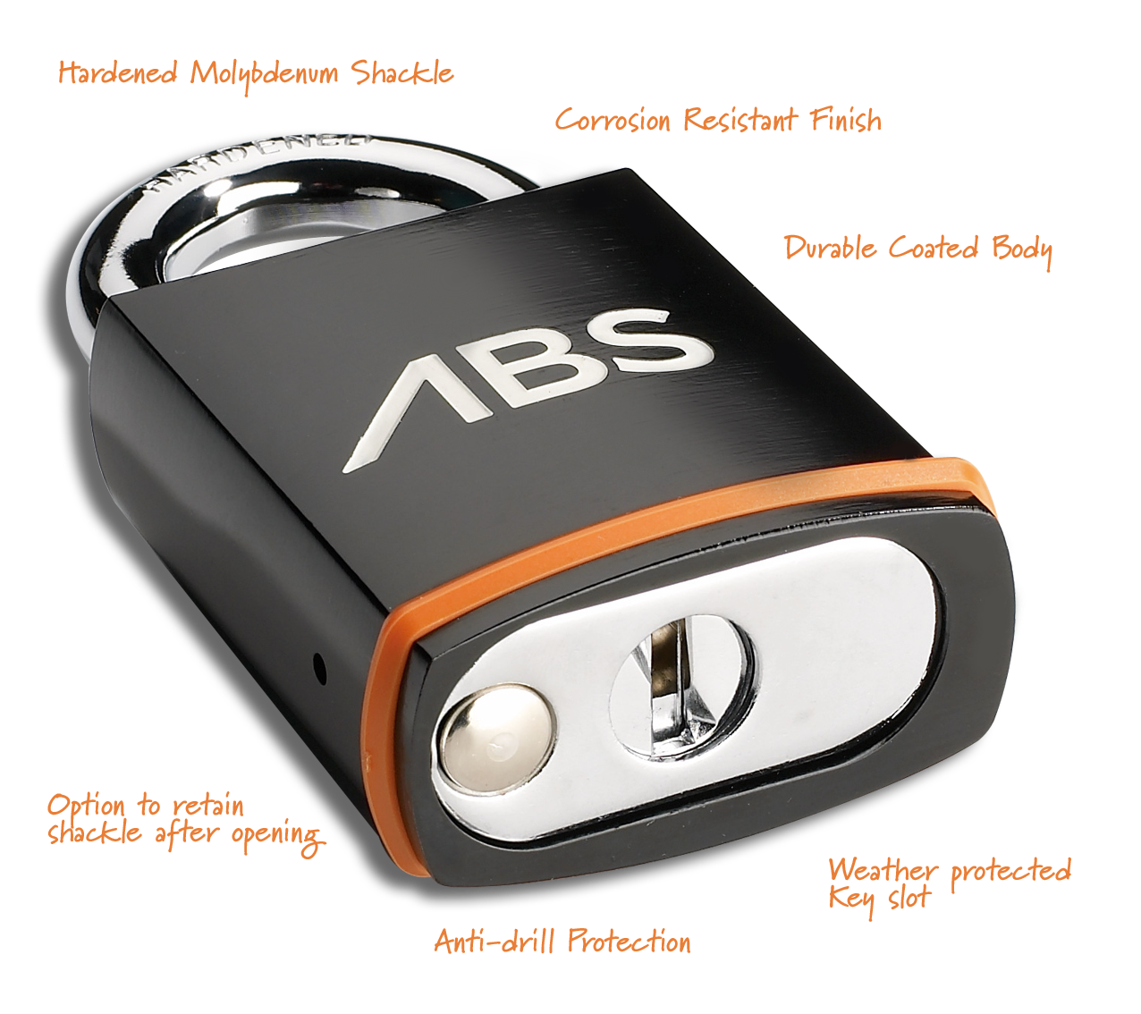 ABS padlock features
