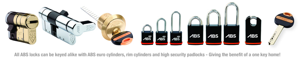Get all your doors on one key with ABS locks