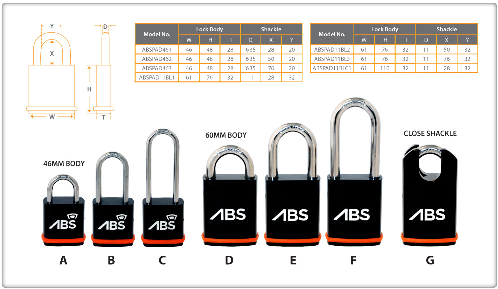 Avocet ABS lock padlocks