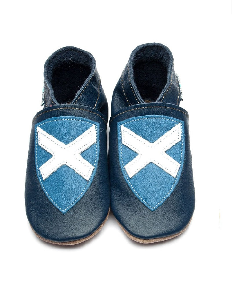 Saltire Soft Leather Baby Shoes
