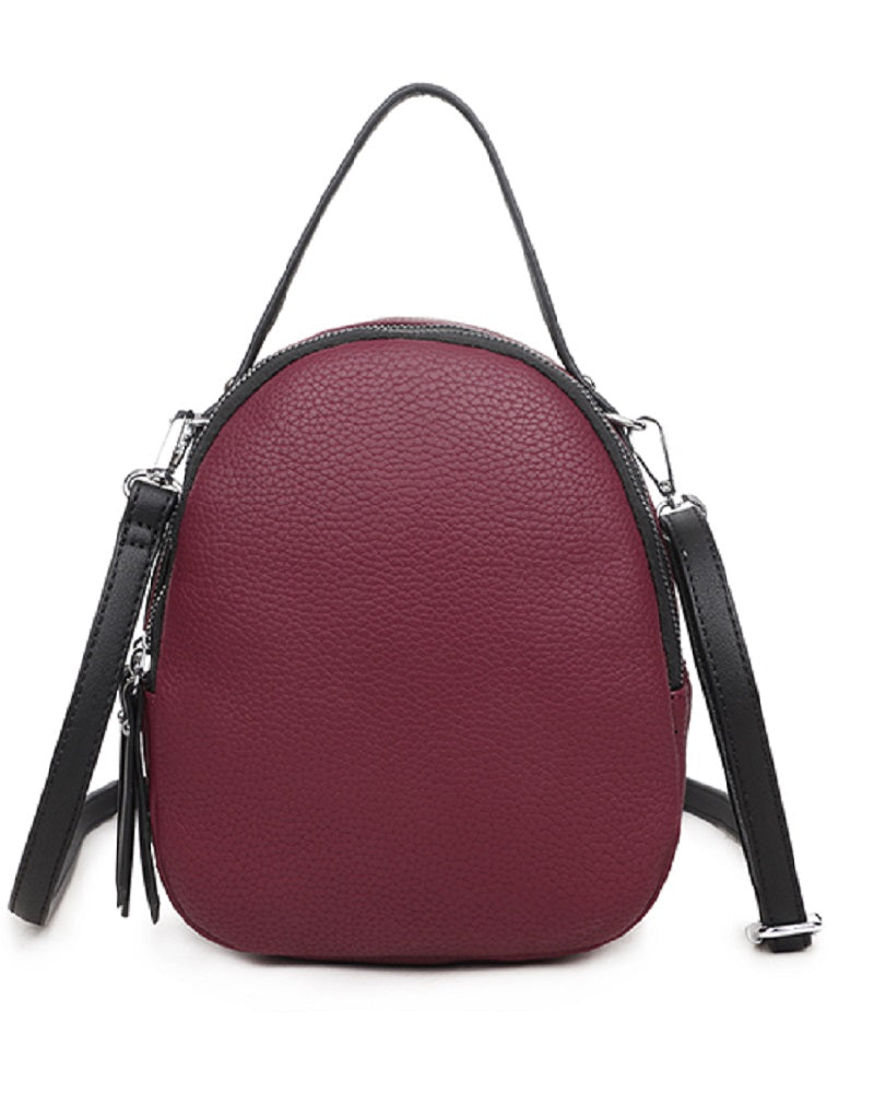 Oval Zip-Around Crossbody Grab Bag