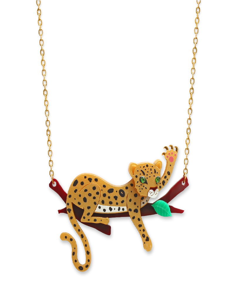 Leopard Branch Necklace