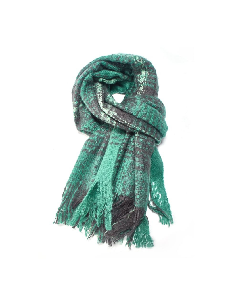Green Check Blanket Scarf