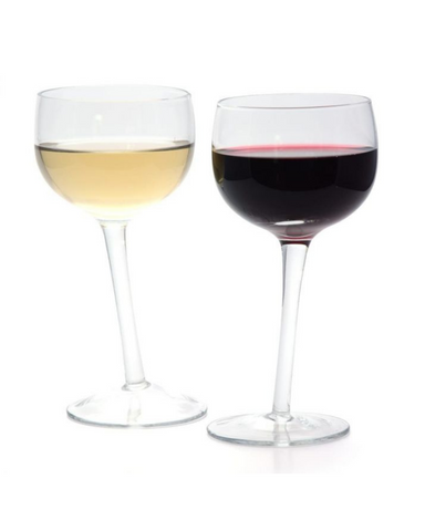 Tipsy Wine Glasses Set Of 2