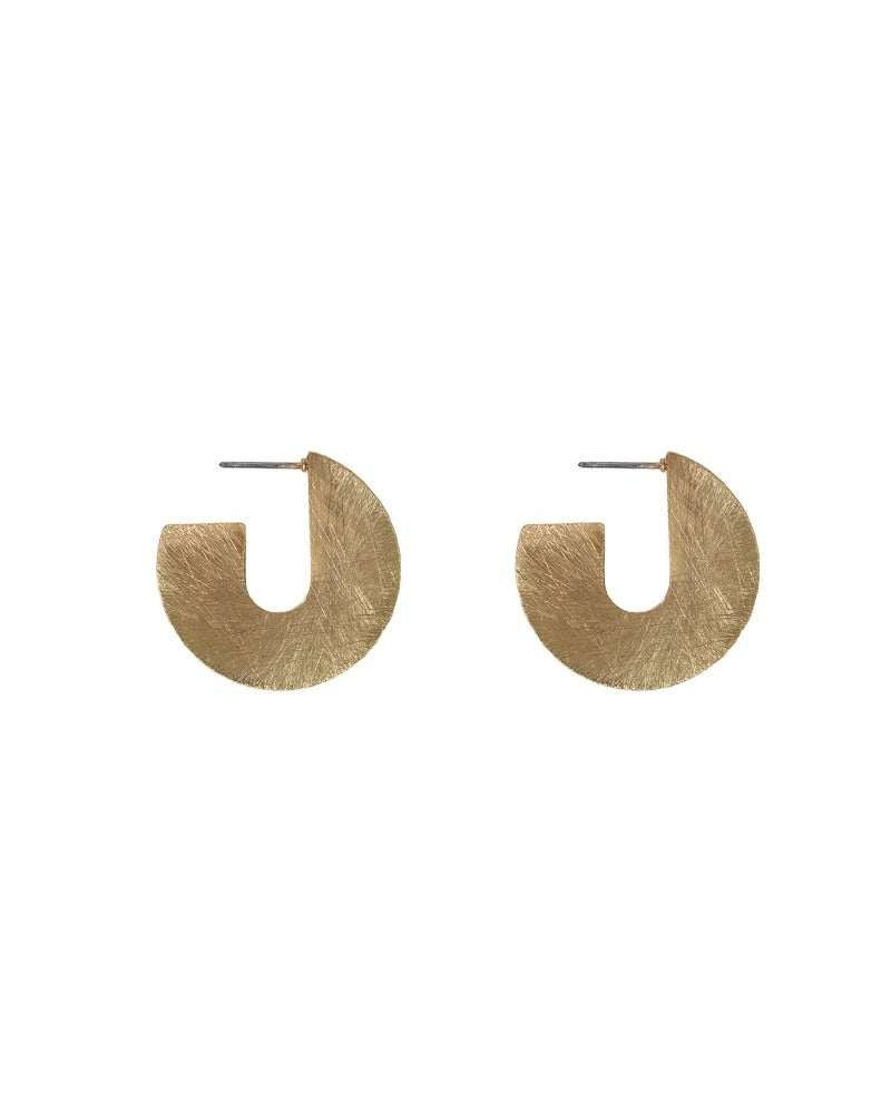 Kiki Scratched Hoops - Gold