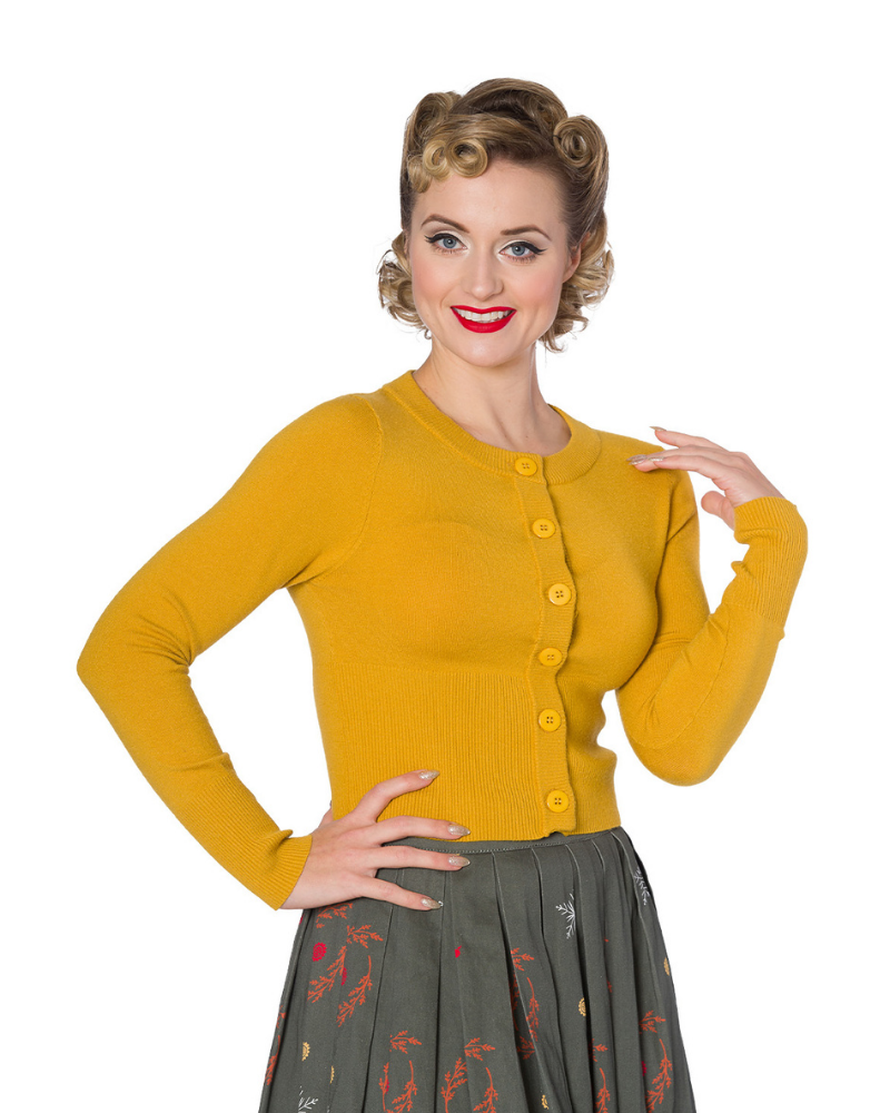Dolly Cardigan Mustard