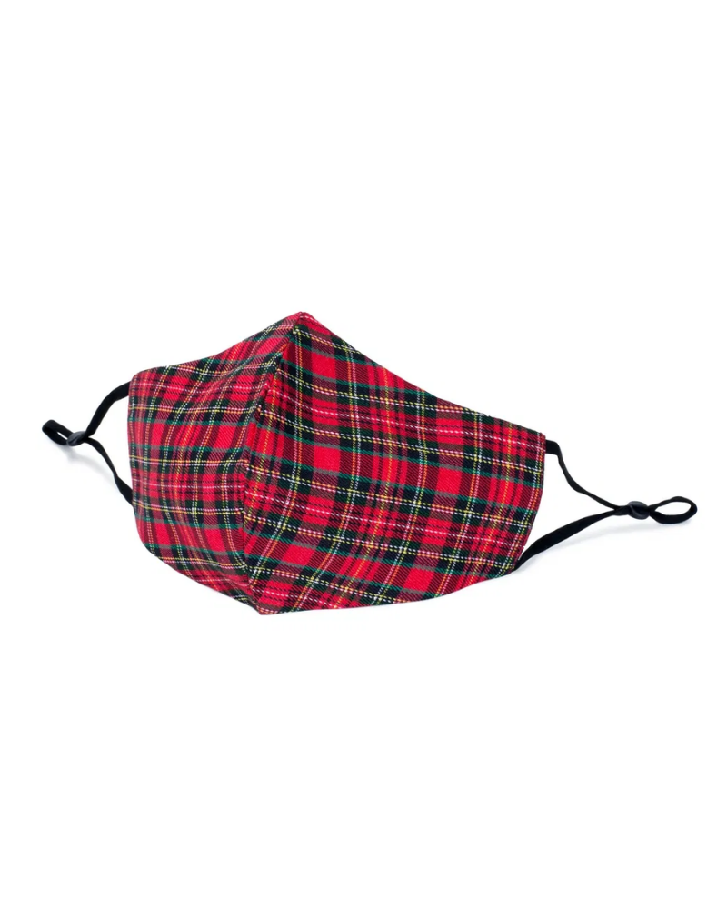 Red Tartan Face Mask Covering