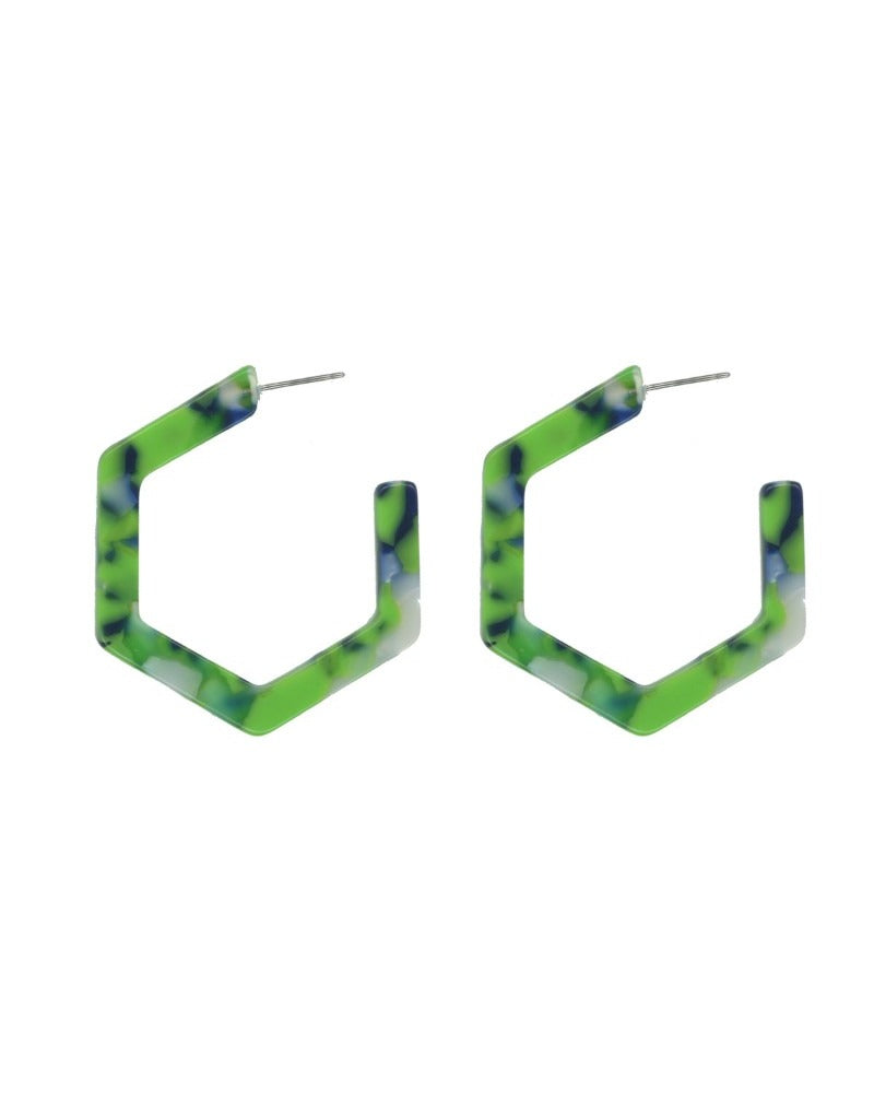 Hadrianna Hexagon Earrings