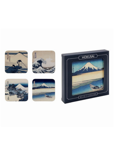 Hokusai Fuji Wave Set Of 4 Coasters