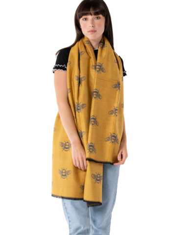 Terry Bees Pashmina Assorted