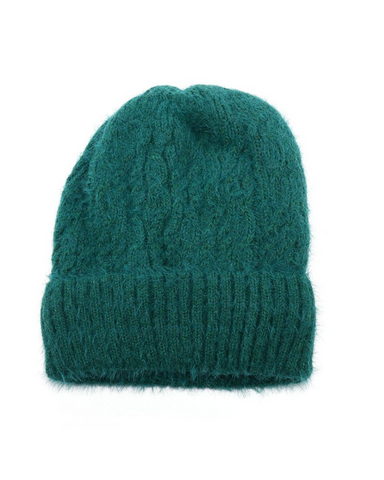 Knitted Hat With Turn Up Assorted Colours