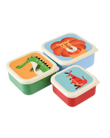 Animal Snacking Boxes Set of 3
