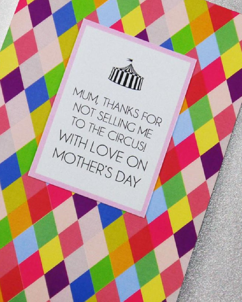 Circus Mothers Day Card