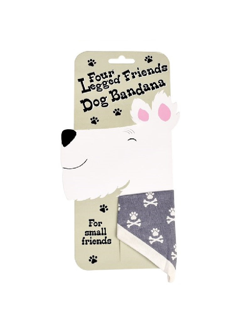 Paw And Cross Bones Dog Bandana