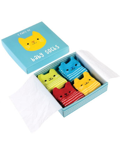 Kitten Baby Socks Pack Of 4