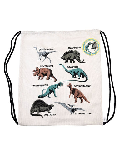 Mini Drawstring Dinosaur Bag