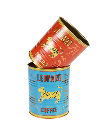 Leopard Storage Tins Set Of 2