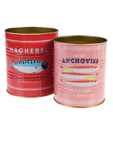 Fish Storage Tins Set Of 2