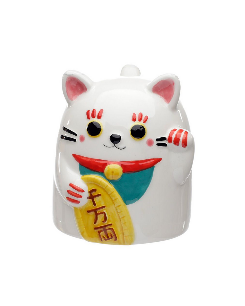 Maneki Neko Lucky Cat Upside Down Mug