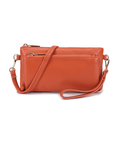 Double Zip Multi Wristlet Clutch Bag