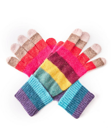Rainbow Striped Gloves