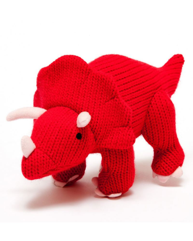 Triceratops Dinosaur Knitted Toy