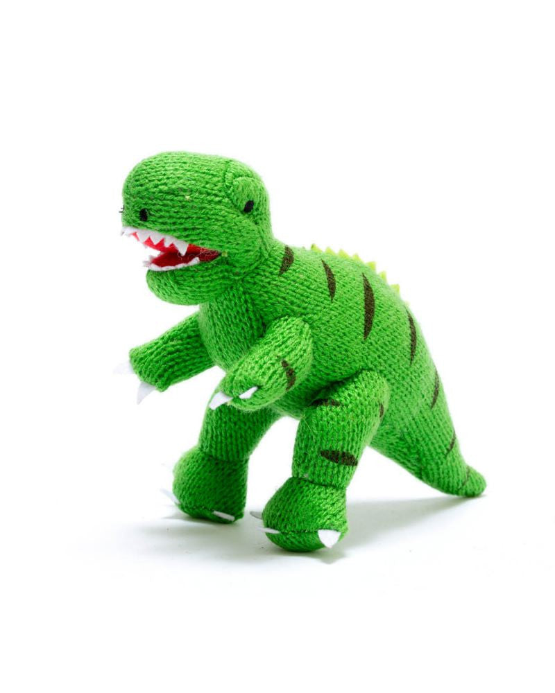T-Rex Dinosaur Knitted Rattle