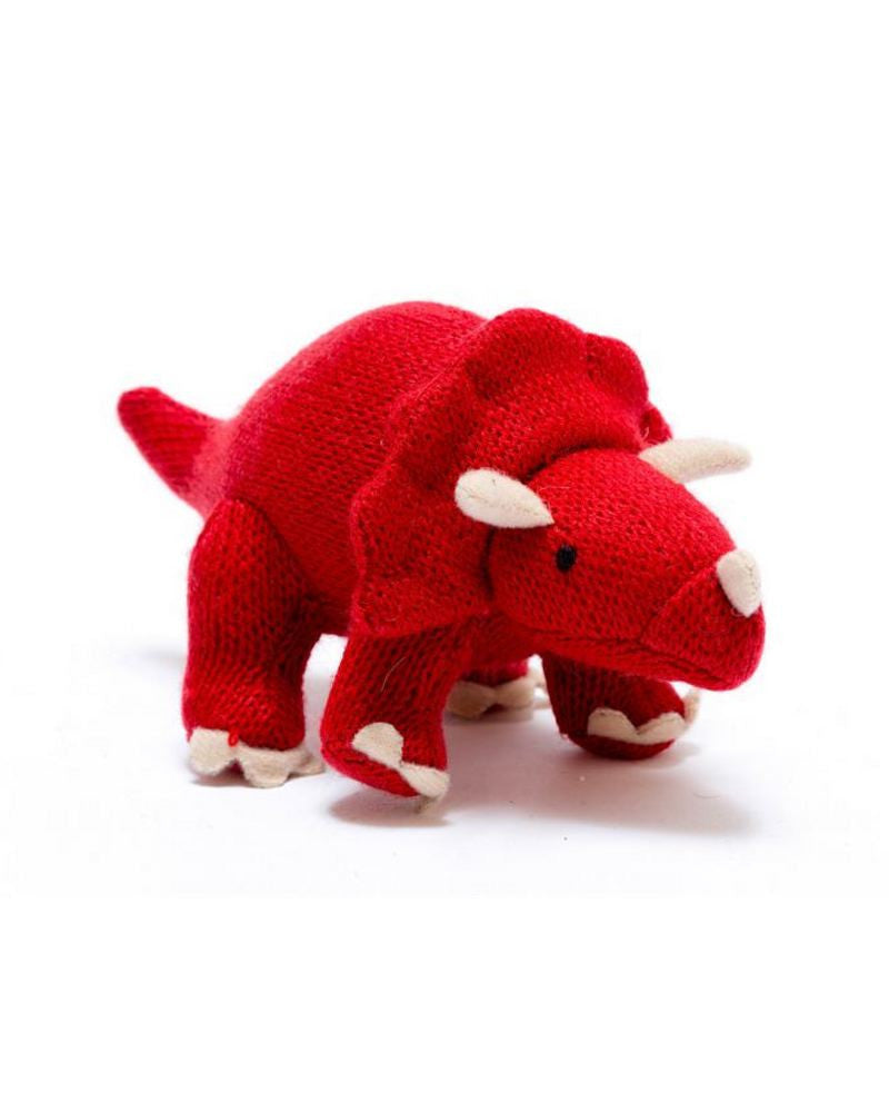 Triceratops Dinosaur Knitted Rattle