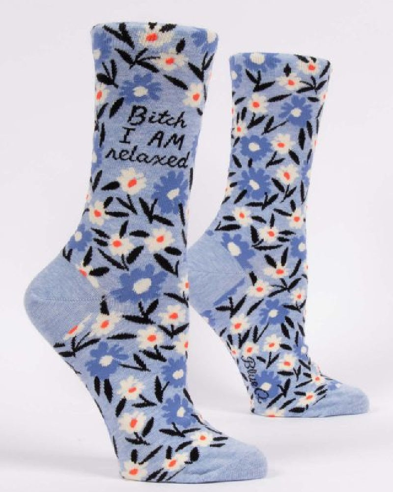 Bitch I am Relaxed Ladies Crew Socks