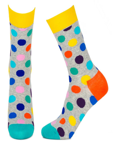 Multi Polka Spot Ladies Crew Socks