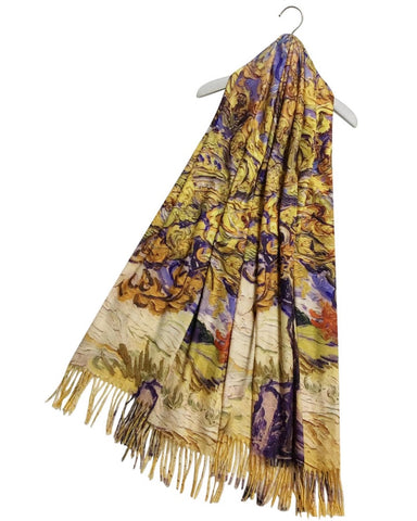 Vincent Van Gogh Mulberry Tree Artist Painting Scarf