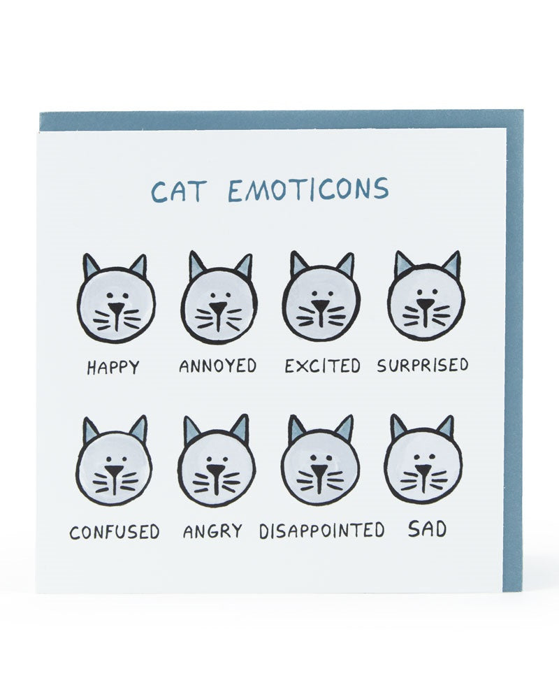 Cat Emoticons Card
