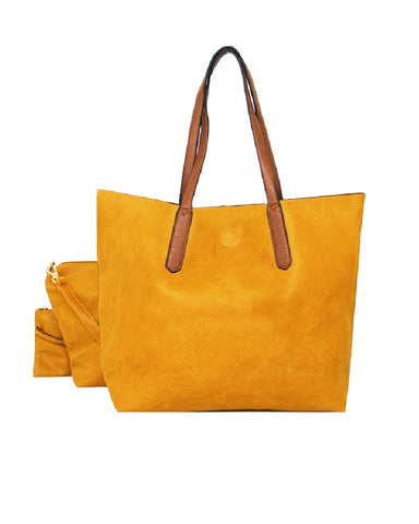 3 In 1 Shopper Handbag Yellow