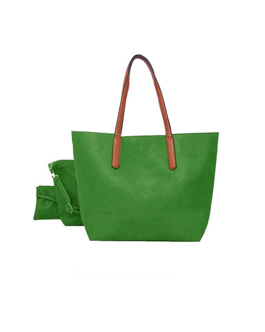3 In 1 Shopper Handbag Green