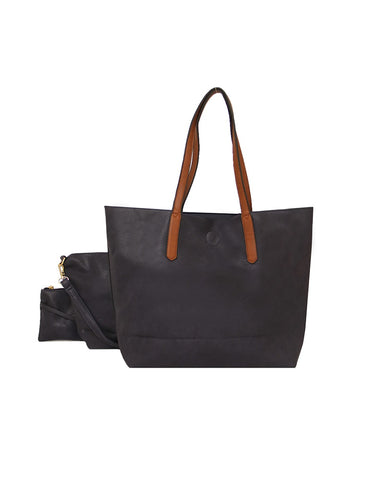 3 In 1 Shopper Handbag Black