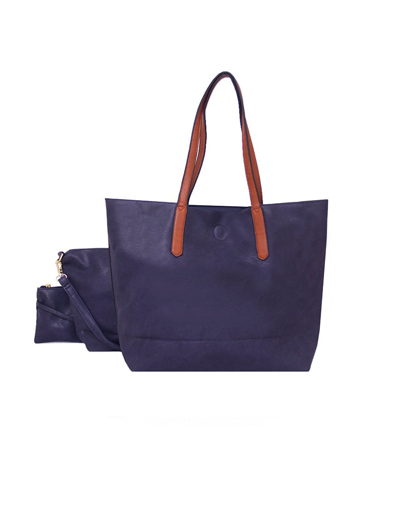 3 In 1 Shopper Handbag Navy