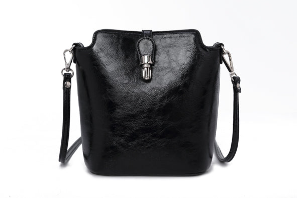 Cross Body Bag Leather Look Finish