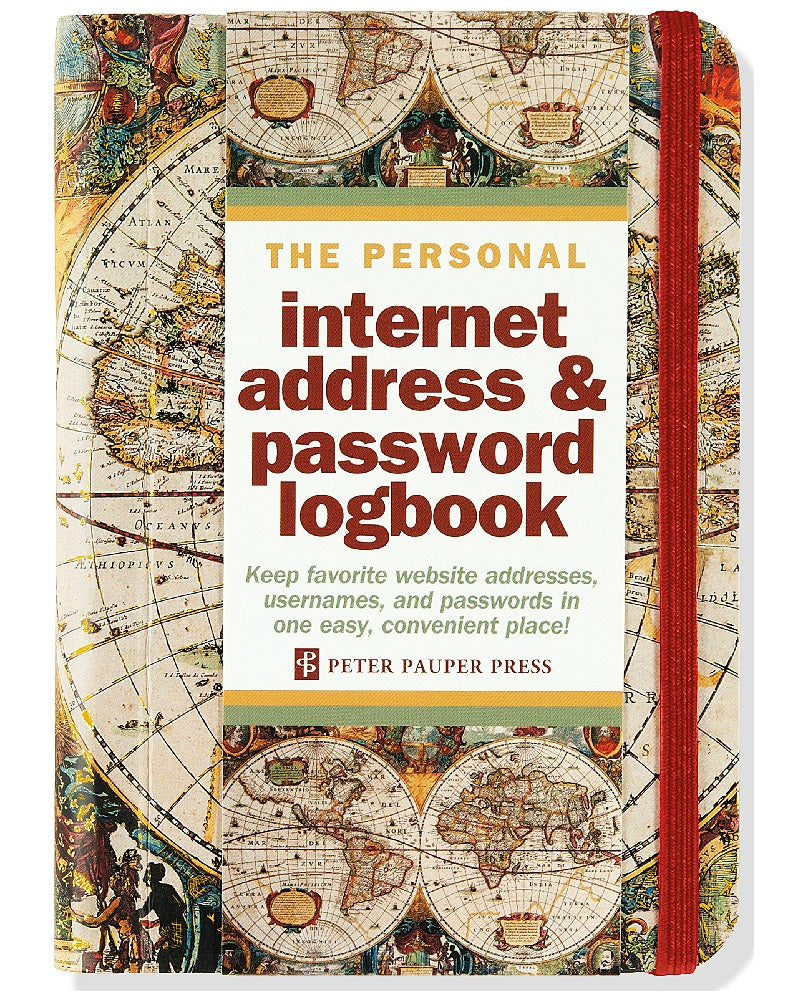 Internet Passwords Log Book Old World Design Small Format