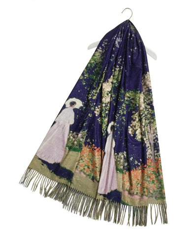 Claude Monet Woman In Garden Artist Painting Scarf