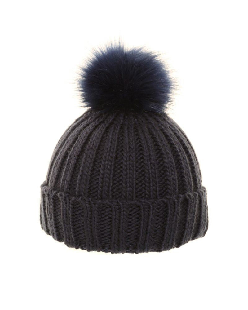 Bobble Hat With Wide Turn Up