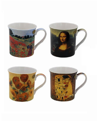 Artist Collection Set Of 4 China Mugs Boxed