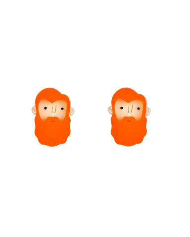 Mini Ginger Beardie Stud Earrings